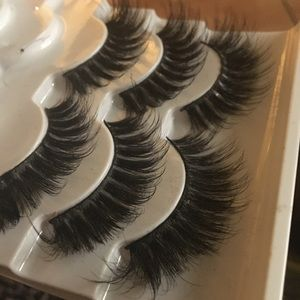 3D Mink Lashes, Winged 4 pairs